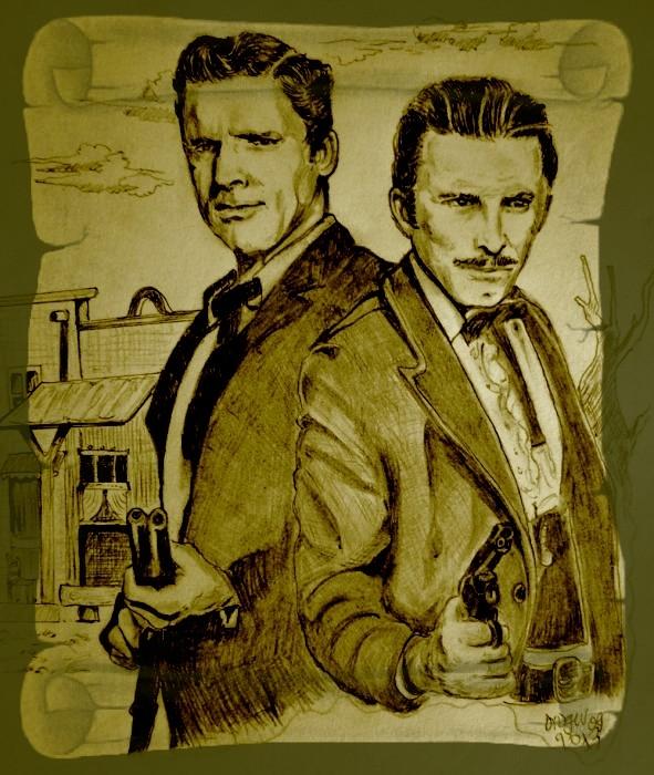 Burt Lancaster, Kirk Douglas par didgiv